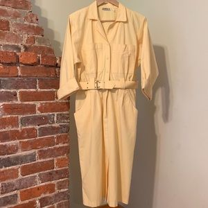 Vintage Yellow Shirtdress